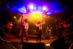 LAS VEGAS, NV - January 29, 2016: ***HOUSE COVERAGE*** The Motet performs at Brooklyn Bowl in Las vegas, NV on January 29, 2016. Credit: Erik Kabik Photography/ MediaPunch